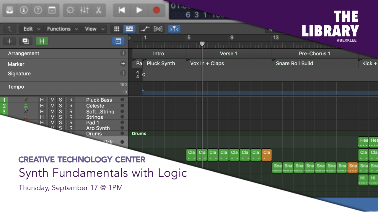 The CTC presents Synth Fundamentals with Logic virtual workshop