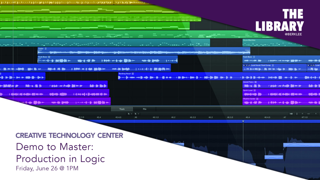 The CTC presents Demo to Master: Production in Logic virtual workshop
