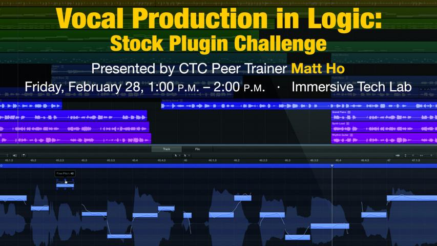Vocal Post Production in Logic: Stock Plugin Challenge